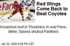 Red Wings Come Back to Beat Coyotes
