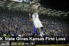 K State Gives Kansas First Loss