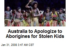 Australia to Apologize to Aborigines for Stolen Kids