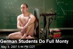 German Students Do Full Monty