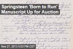 Springsteen 'Born to Run' Manuscript Up for Auction