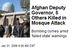 Afghan Deputy Governor, 5 Others Killed in Mosque Attack