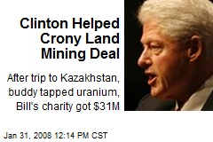 Clinton Helped Crony Land Mining Deal