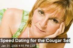 Speed Dating for the Cougar Set