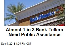 Almost 1 in 3 Bank Tellers Need Public Assistance