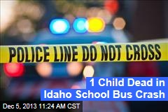 1 Child Dead in Idaho School Bus Crash