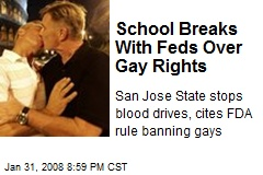 School Breaks With Feds Over Gay Rights