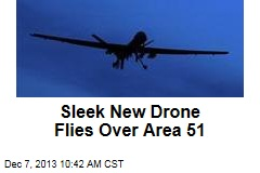 Sleek New US Drone Flies Over Area 51