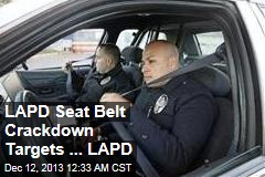 Half of Cops Don't Wear Seat Belts