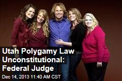 Utah Polygamy Law Unconstitutional: Federal Judge