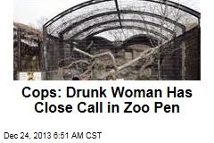 Cops: Drunk Woman Has Close Call in Zoo Pen