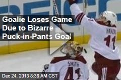 Goalie Loses Game Due to Bizarre Puck-in-Pants Goal