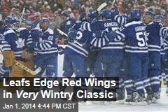 Leafs Edge Red Wings in Very Wintry Classic