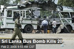 Sri Lanka Bus Bomb Kills 20