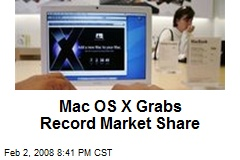 Mac OS X Grabs Record Market Share