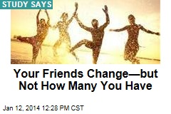 Your Friends Change —But Not How Many You Have
