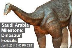 Saudi Arabia Milestone: Dinosaur Fossils