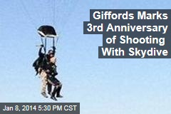 Giffords Marks 3rd Anniversary of Shooting With Skydive