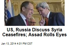US, Russia Discuss Syria Ceasefires; Assad Rolls Eyes