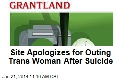 Site Apologizes for Outing Trans Woman After Suicide