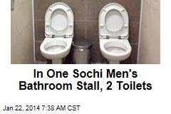 In One Sochi Men's Bathroom Stall, 2 Toilets