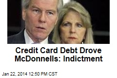 Credit Card Debt Drove McDonnells: Indictment