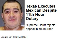 Texas Executes Mexican Amid Protests