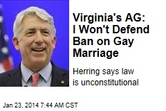 Virginia's AG: I Won't Defend Ban on Gay Marriage