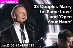 34 Couples to Marry During 'Same Love'