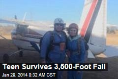 Teen Survives 3,500-Foot Fall