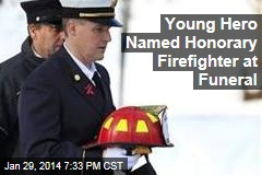 Young Hero Named Honorary Firefighter at Funeral