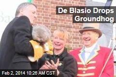 De Blasio Drops Groundhog