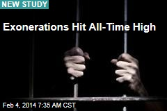 Exonerations Hit All-Time High