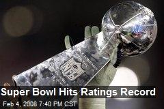 Super Bowl Hits Ratings Record