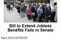 Bill to Extend Jobless Benefits Fails in Senate