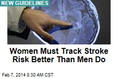 Women Must Track Stroke Risk Better Than Men Do