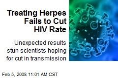 Treating Herpes Fails to Cut HIV Rate