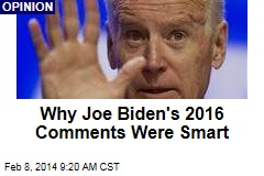 Why Joe Biden's 2016 Comments Were Smart