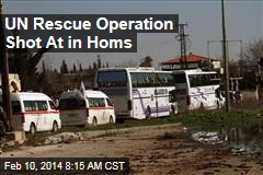 UN Rescue Operation Shot At in Homs