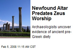 Newfound Altar Predates Zeus Worship