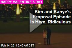 Kim and Kanye's Proposal Episode Is Here, Ridiculous