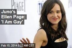 Juno 's Ellen Page: 'I Am Gay'