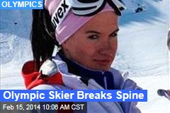 Olympic Skier Breaks Spine