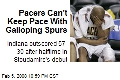 Pacers Can't Keep Pace With Galloping Spurs