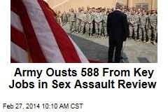 Army Ousts 588 From Key Jobs in Sex Assault Review