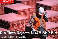 Rio Tinto Rejects $147B BHP Bid