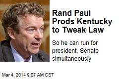 Rand Paul Prods Kentucky to Tweak Law