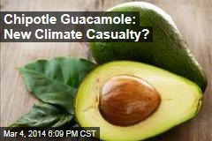 Climate Change Threatens ... Chipotle Guacamole