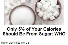 Only 5% of Your Calories Should Be From Sugar: WHO