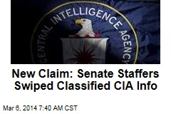 New Claim: Senate Staffers Swiped Classified CIA Info